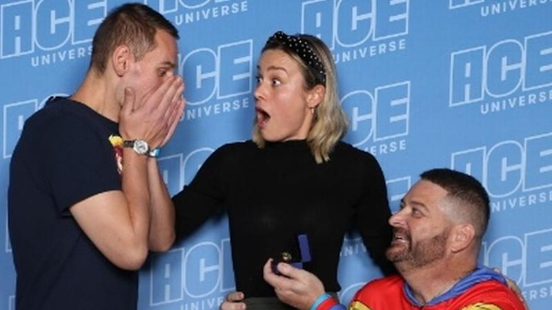 Brie Larson Had a Big Role in That Epic ACE Comic Con Proposal -- Here's How It All Went Down! (Exclusive)