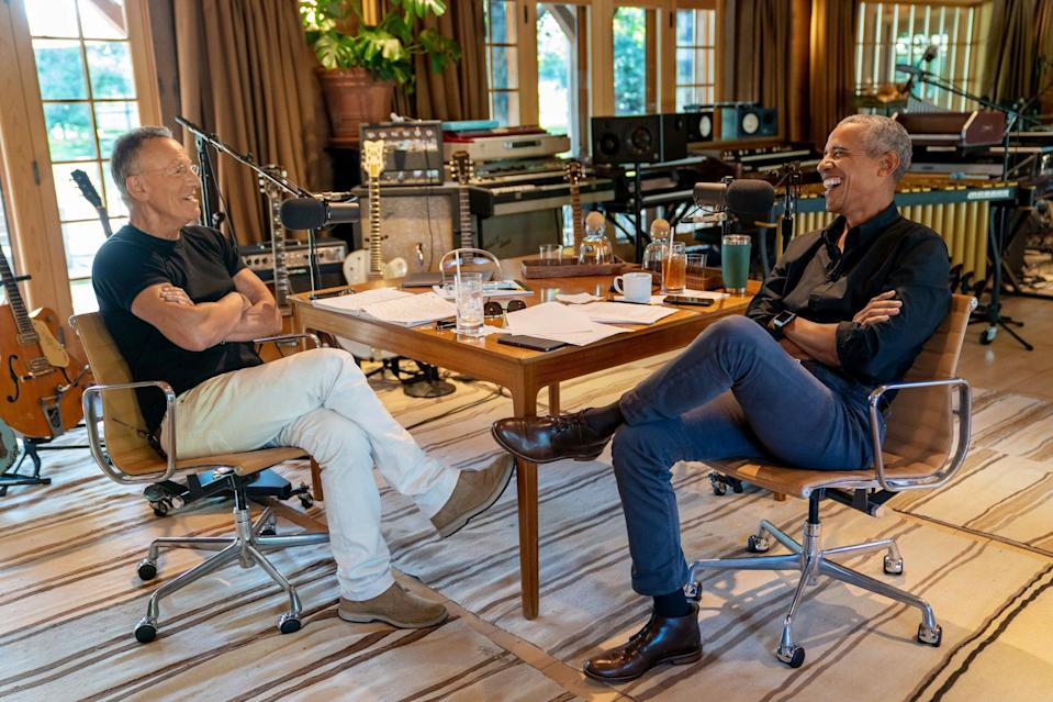 Bruce Springsteen and Barack Obama have a new podcast on Spotify (Spotify)
