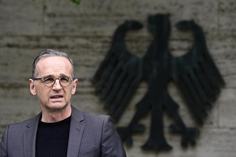 German Foreign Minister Heiko Maas in Berlin on May 28 (REUTERS)