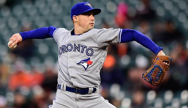 MLB: Toronto Blue Jays' Aaron Sanchez pitcht sieben Innings ohne Hit