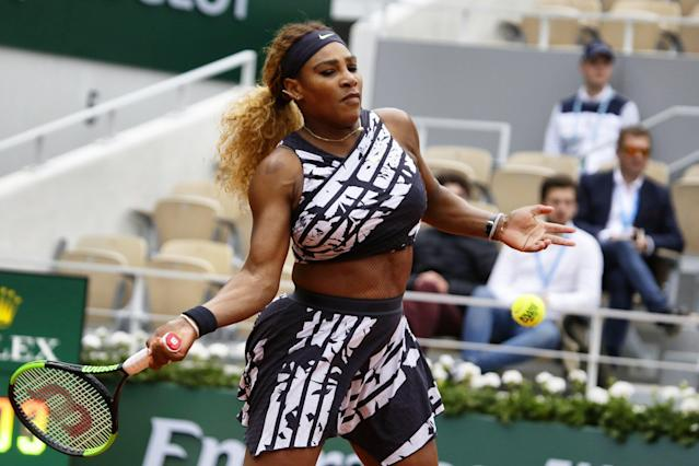 "<a class=""link rapid-noclick-resp"" href=""/olympics/rio-2016/a/1132744/"" data-ylk=""slk:Serena Williams"">Serena Williams</a> again took over the French Open with her outfit choice. (Photo by Ibrahim Ezzat/NurPhoto via Getty Images)"