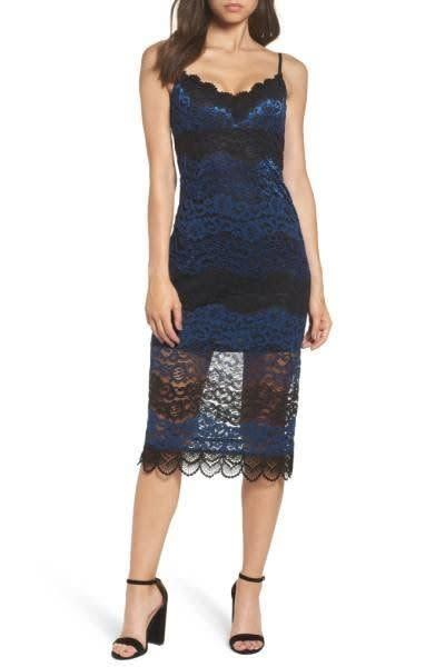 The scalloped trim and embroidered lace enhance the sexy-sweet appeal of this figure-skimming midi slipdress. Get it at <span>Nordstrom for $78</span>.