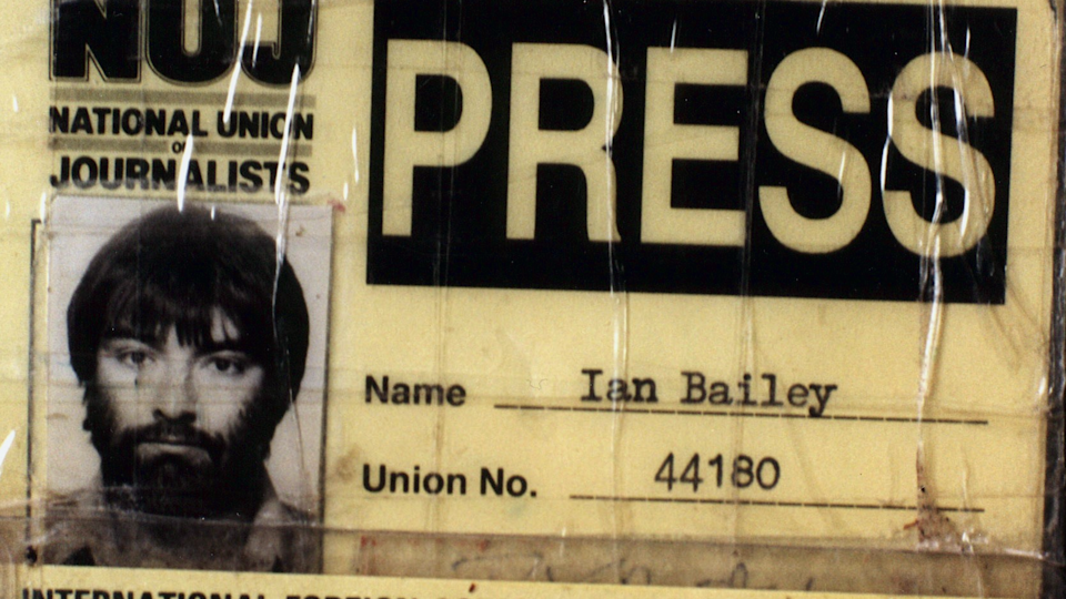 Ian Bailey was the first journalist on the scene (Handout)