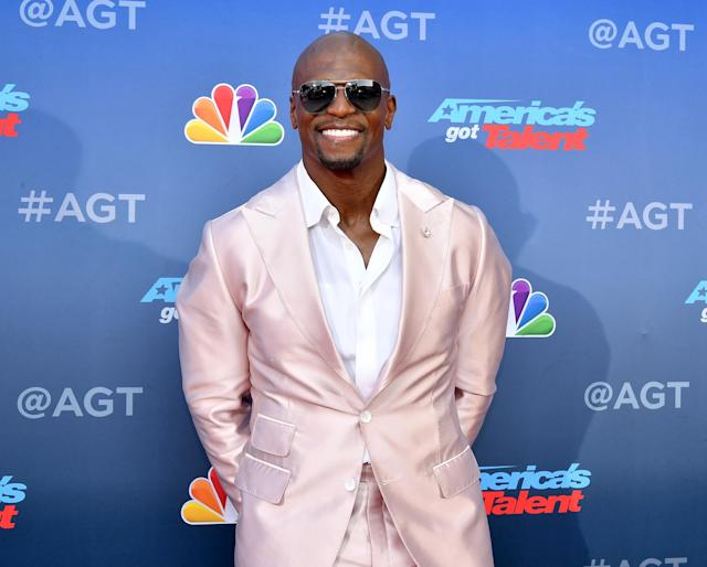 Terry Crews, shown at the <em>America's Got Talent </em>Season 15 premiere, responded to backlash over a tweet. (Getty Images)