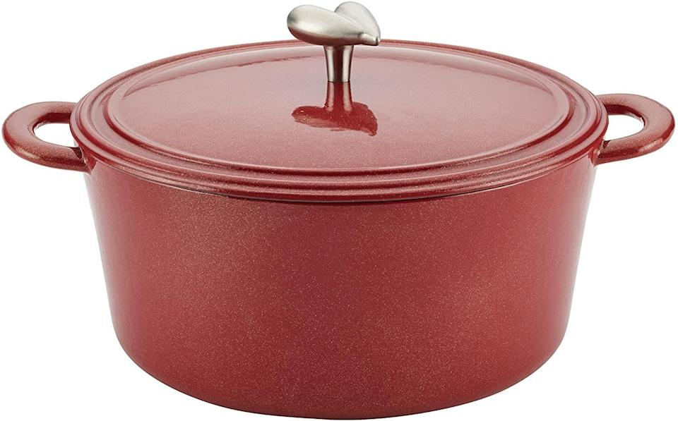 <p>Challenge yourself with a new recipe, using this <span>Ayesha Curry Cast Iron Enamel Casserole Dish</span> ($70).</p>