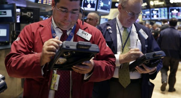 new york stock exchange traders wall street earnings federal reserve