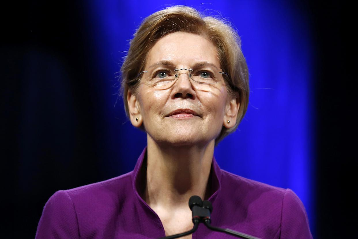Senator Elizabeth Warren (D-Mass.) used a Saturday speech to constituents to publicly declare her interest in seeking the White House. (Photo: Jonathan Bachman / Reuters)