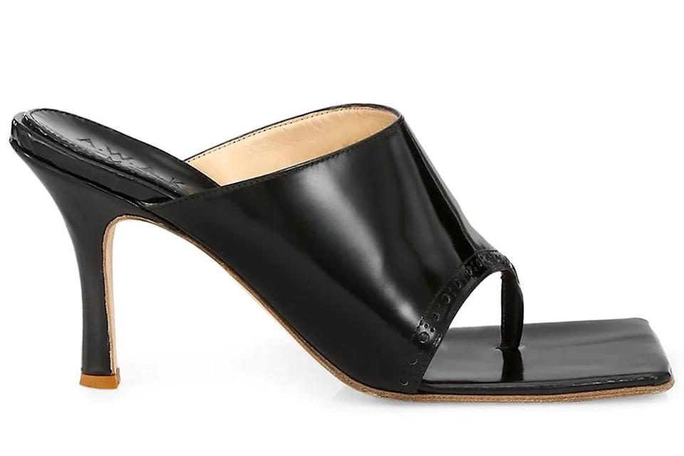 A.W.A.K.E. Mode Katie thong sandals. - Credit: Courtesy of Saks