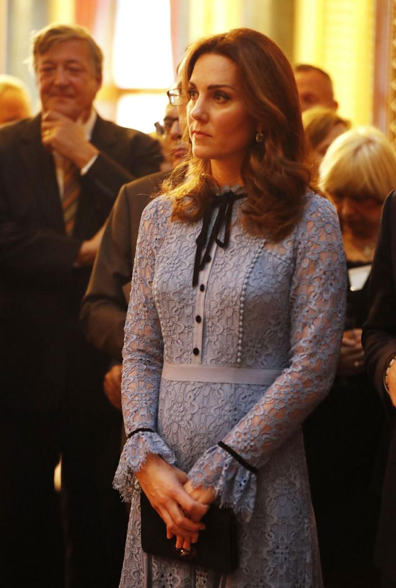 Kate showed off her baby bump earlier this week. Photo: Getty