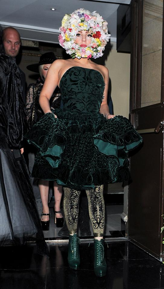 "Seriously? This woman/floral arrangement is just exhausting. (9/16/2012)<br><br><a target=""_blank"" href=""http://omg.yahoo.com/news/madonna-buries-hatchet-lady-gaga-love-her-010000379.html"">Madonna buries the hatchet with Gaga</a>"