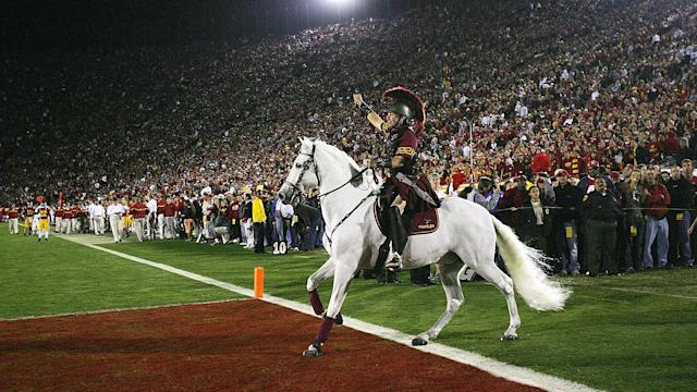 <p><strong>3. USC.</strong> <br>Top 2017-18 teams: women's track and field, women's water polo (national champions). Trajectory: Steady. For the third straight year, the Trojan won at least one national title in a spring sport. For the fourth straight year, they ranked in the top four overall departments. </p>