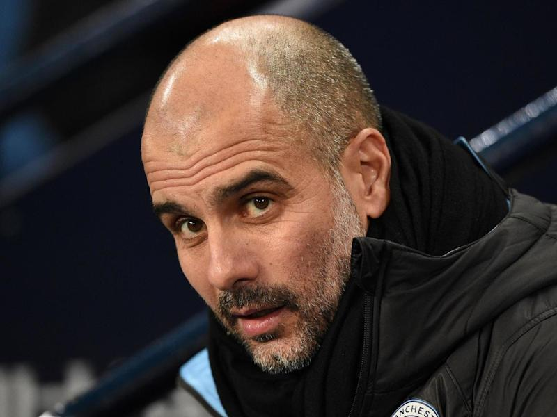 Manchester City manager Pep Guardiola: AFP via Getty Images
