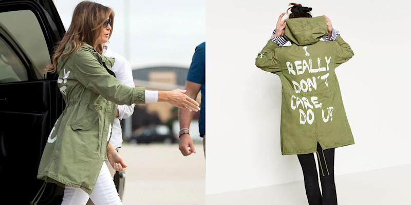 Melania Trump wears 'I really don't care' jacket before visiting migrant kids