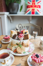 "<p>Vintage china heaped high with sticky cakes and cream-covered scones is the order of the day at Chin Chin, Bristol's cutest little tea shop. All that comes in at just £14.95 per person. </p><p><b><a rel=""nofollow noopener"" href=""http://thisischinchin.com/"" target=""_blank"" data-ylk=""slk:Thisischinchin.com"" class=""link rapid-noclick-resp"">Thisischinchin.com</a></b> </p>"