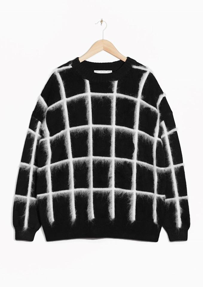 "<p><a href=""http://www.stories.com/gb/Ready-to-wear/Knitwear/Checked_Mohair-Blend_Sweater/582940-108750766.1"">& Other Stories</a>, £69</p>"