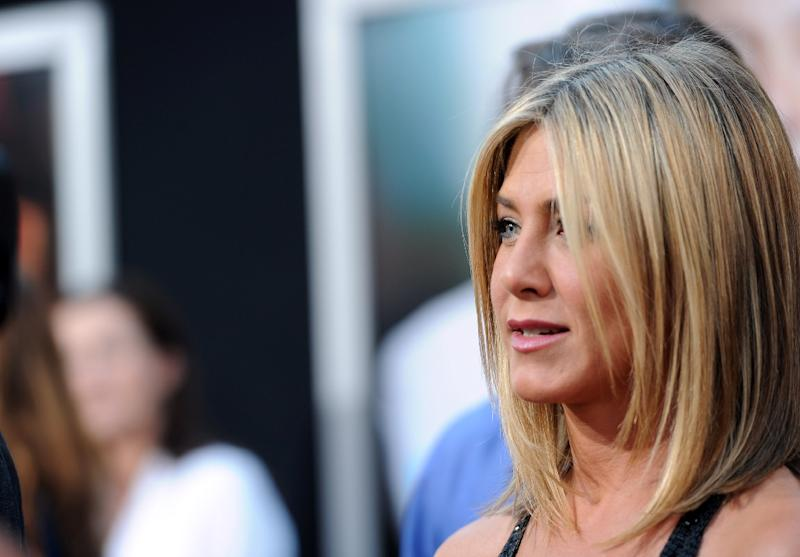 Jennifer Aniston is one of the Hollywood stars Apple is counting on as it prepares to launch its streaming video service (AFP Photo/Alberto E. Rodriguez)