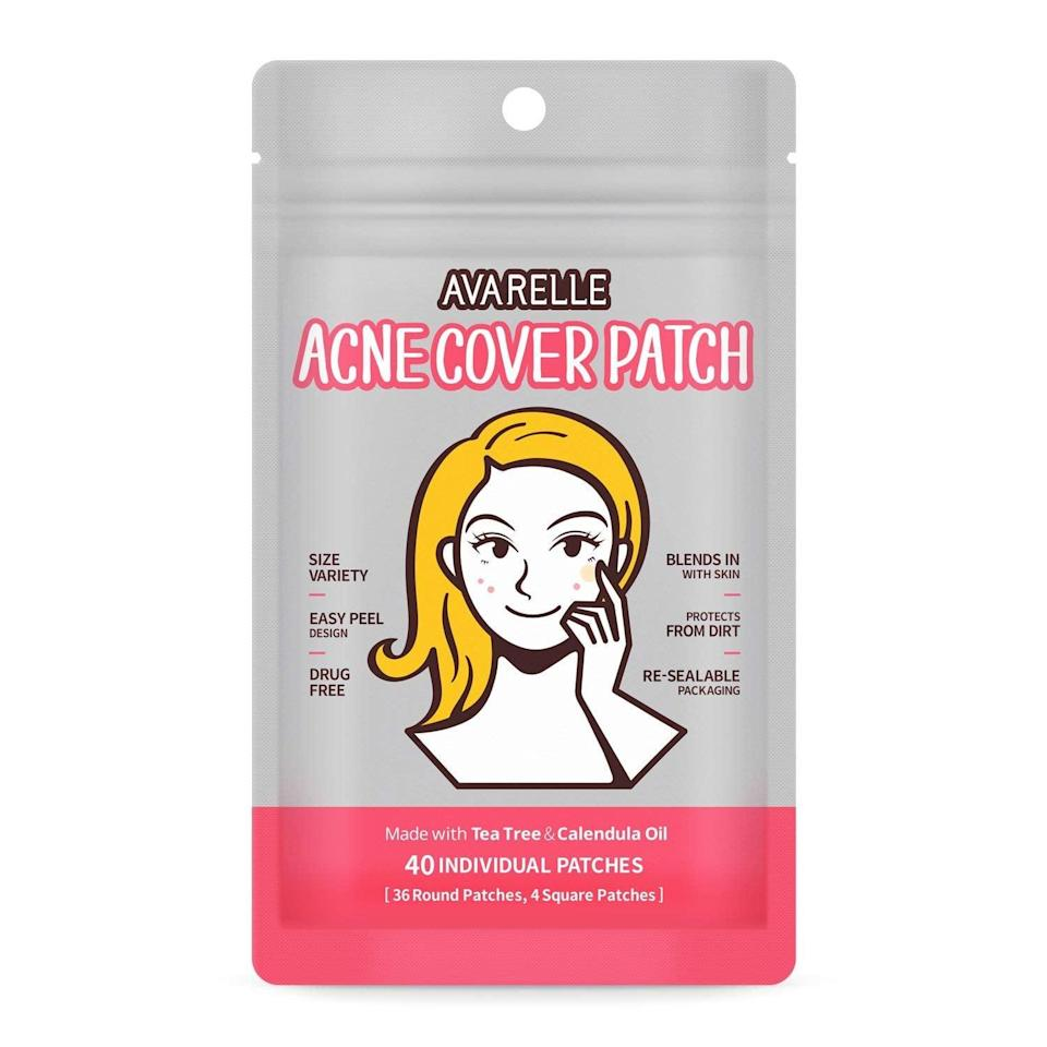 <p>Kiss those dreaded blemishes goodbye with these easy-to-use <span>Avarelle Acne Cover Spot Patches</span> ($9).</p>