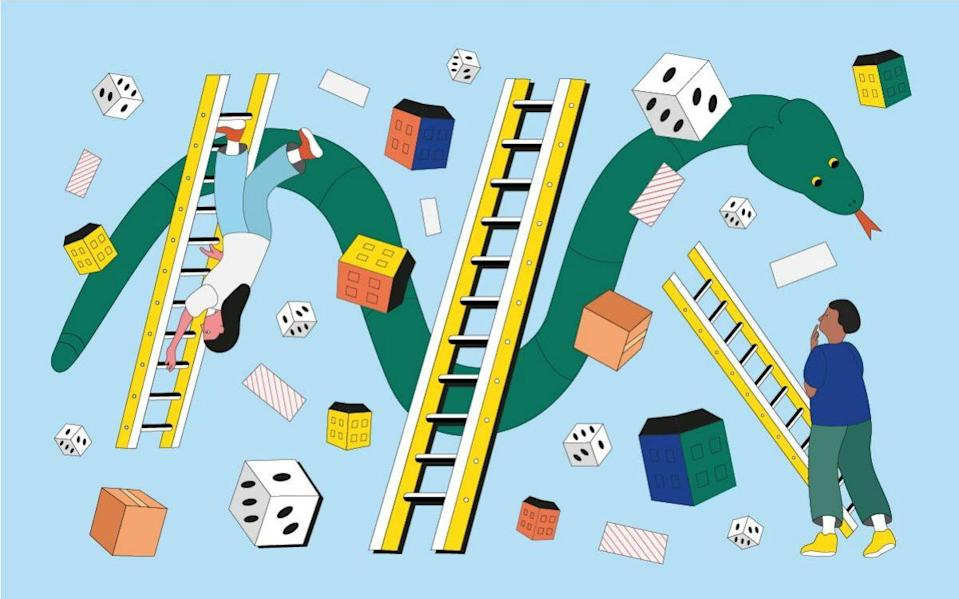 property snakes and ladders - Ruby Martin