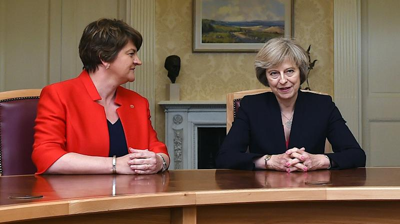Arlene Foster and Theresa May are negotiating the future of the government (PA Images)