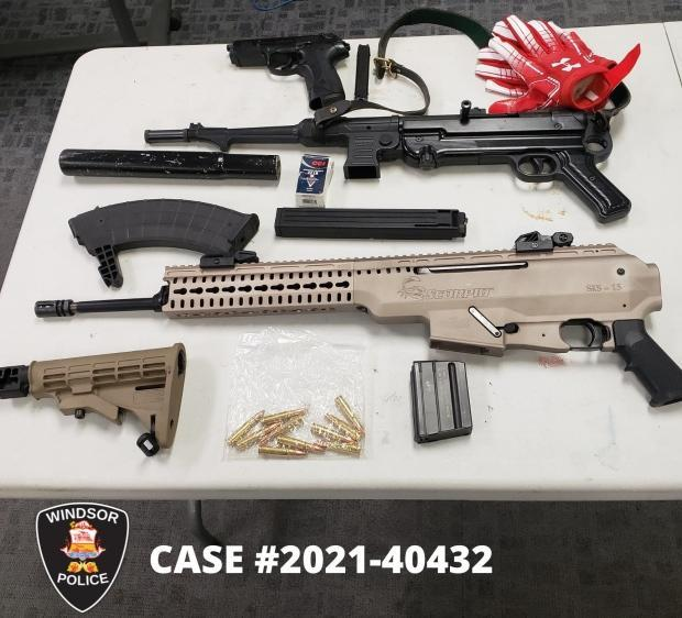 Windsor police have released an image of evidence seized in a firearms investigation that resulted in two arrests.