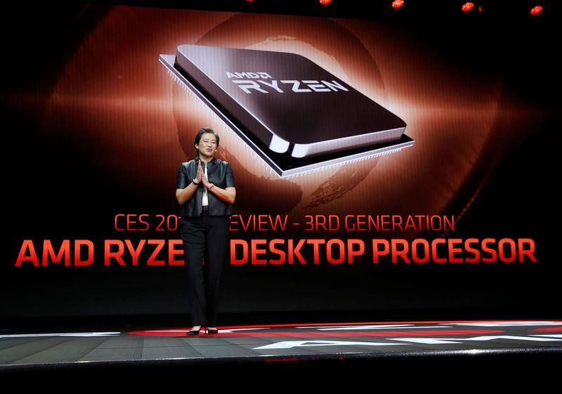 Lisa Su, president and CEO of AMD, talks about AMD's 3rd generation Ryzen desktop processor during a keynote address at the 2019 CES in Las Vegas