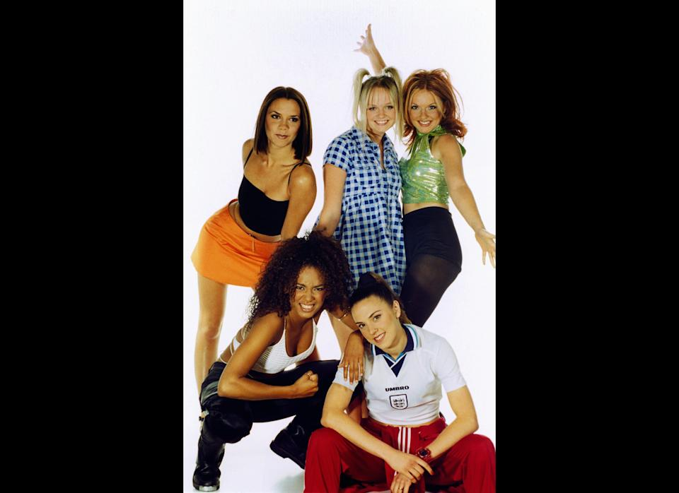 <strong>1996</strong>  Girl group The Spice Girls in the studio