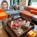"""<p>This new mom <a href=""""https://people.com/home/gigi-hadid-nyc-apartment-photos-instagram/"""" rel=""""nofollow noopener"""" target=""""_blank"""" data-ylk=""""slk:recently showed off how she put her interior design skills to use"""" class=""""link rapid-noclick-resp"""">recently showed off how she put her interior design skills to use</a> in her New York City apartment on Instagram.</p> <p>According to the <a href=""""https://nypost.com/2020/06/17/gigi-and-bella-hadid-quietly-spent-millions-on-nyc-real-estate/"""" rel=""""nofollow noopener"""" target=""""_blank"""" data-ylk=""""slk:New York Post"""" class=""""link rapid-noclick-resp""""><em>New York Post</em></a>, Hadid purchased two apartments in her building in Manhattan and combined them. The first apartment is a two-bedroom, 2.5-bathroom unit with a chef's kitchen, while the second has three bedrooms, 3.5-bathroom, and includes a landscaped private terrace with a fire pit and barbecue grill.</p> <p>In July, she shared an exclusive look inside the apartment with fans, giving them an inside look at the eclectic design choices within her Bohemian-inspired home, which include a bathroom covered in old <em>New Yorker</em> magazine covers and a kitchen equipped with glass-front drawers filled with colorfully dyed pasta.</p> <p><a href=""""https://people.com/home/gigi-hadid-nyc-apartment-photos-instagram/"""" rel=""""nofollow noopener"""" target=""""_blank"""" data-ylk=""""slk:See more photos of Gigi Hadid's home."""" class=""""link rapid-noclick-resp"""">See more photos of Gigi Hadid's home. </a></p>"""