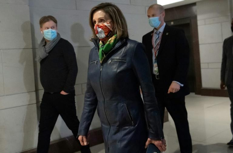 US House Speaker Nancy Pelosi, on Capitol Hill on December 18, 2020