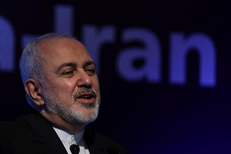 FILE PHOTO:  Iran's Foreign Minister Mohammad Javad Zarif attends India-Iran business forum in New Delhi