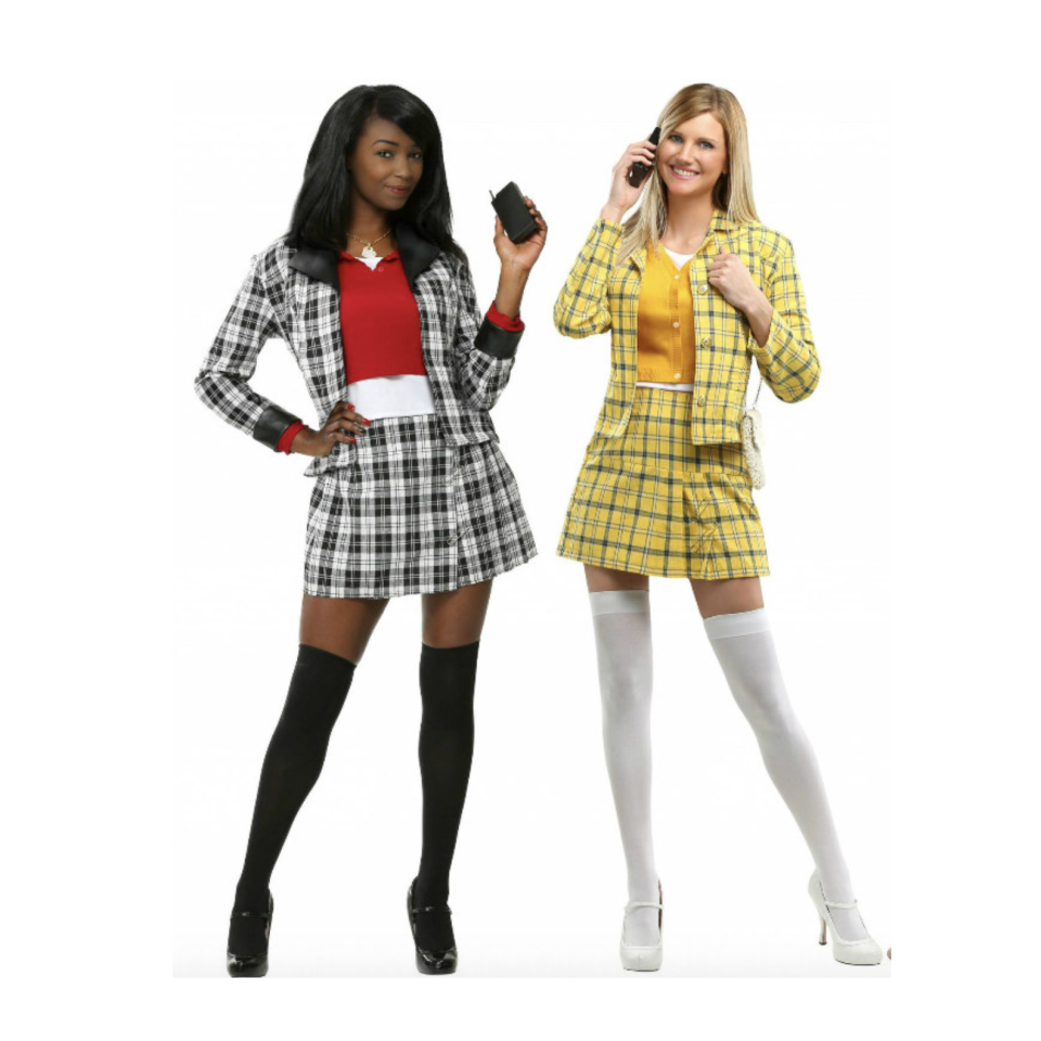 """<p><strong>Main Content</strong></p><p>halloweencostumes.com</p><p><strong>$54.99</strong></p><p><a href=""""https://go.redirectingat.com?id=74968X1596630&url=https%3A%2F%2Fwww.halloweencostumes.com%2Fclueless-dee-costume.html&sref=https%3A%2F%2Fwww.goodhousekeeping.com%2Fholidays%2Fhalloween-ideas%2Fg21969310%2Fbest-friend-halloween-costumes%2F"""" rel=""""nofollow noopener"""" target=""""_blank"""" data-ylk=""""slk:Shop Now"""" class=""""link rapid-noclick-resp"""">Shop Now</a></p><p>Thought plaid and knee high socks were out of style? As if! The style is as timeless is as this iconic duo from <em>Clueless.</em></p>"""