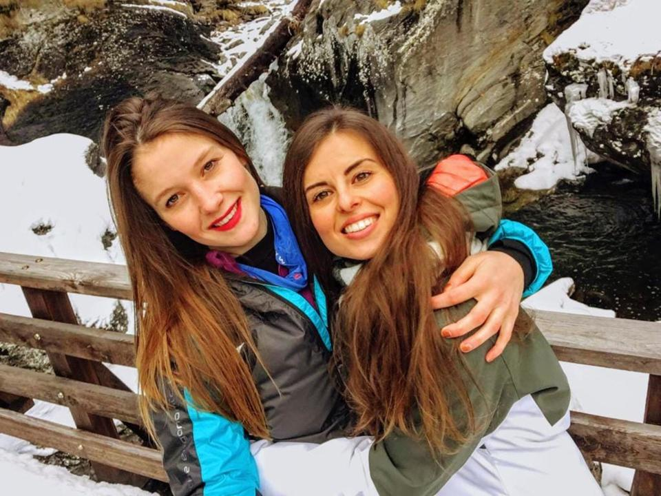 Italian climbers Martina Sviluppo (left) Paola Viscardi (right) froze to death on Monte Rosa after their climb took fatal turn. Source: Newsflash/Australscope