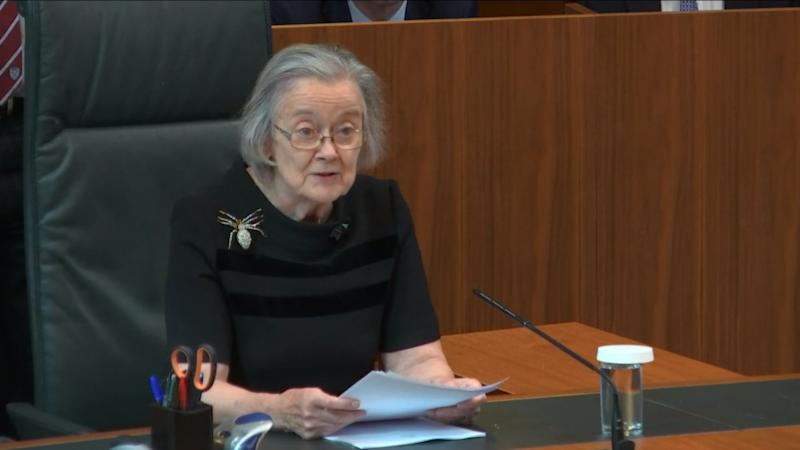Lady Hale, president of the Supreme Court, confirmed that Boris Johnson acted illegally when he prorogued Parliament for five weeks (PA Images)