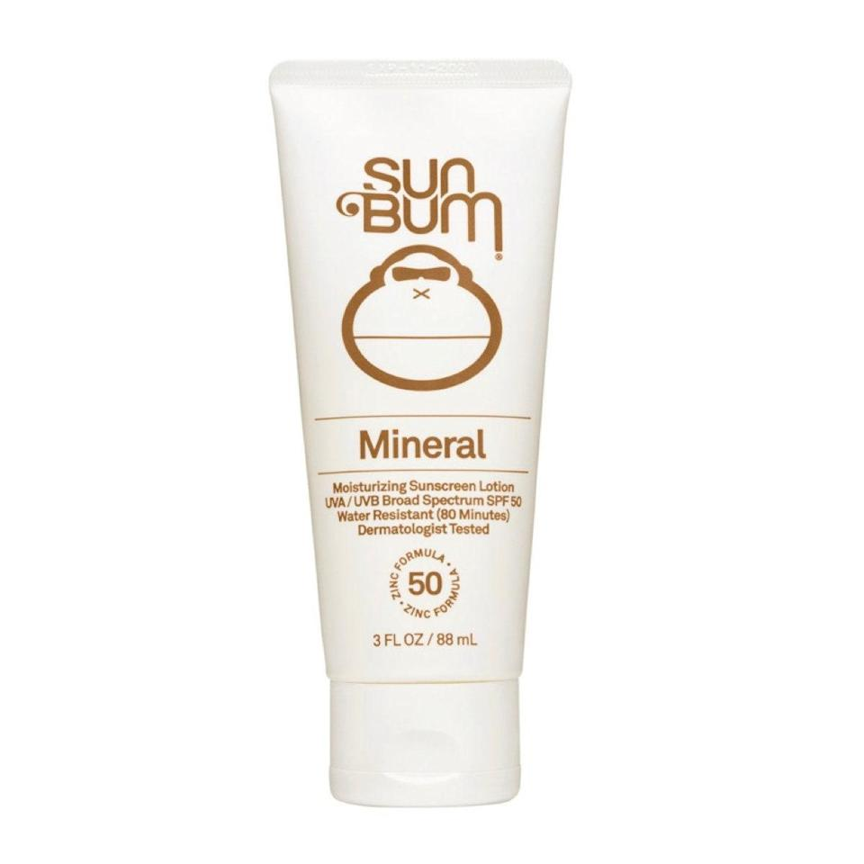 """Most mineral formulas are unscented, but this one has Sun Bum's classic coconut smell to get you in a summer state of mind ASAP. It also rubs in easily and is moisturizing and reef-safe. $15, Sun Bum. <a href=""""https://shop-links.co/1740194587301883096"""" rel=""""nofollow noopener"""" target=""""_blank"""" data-ylk=""""slk:Get it now!"""" class=""""link rapid-noclick-resp"""">Get it now!</a>"""