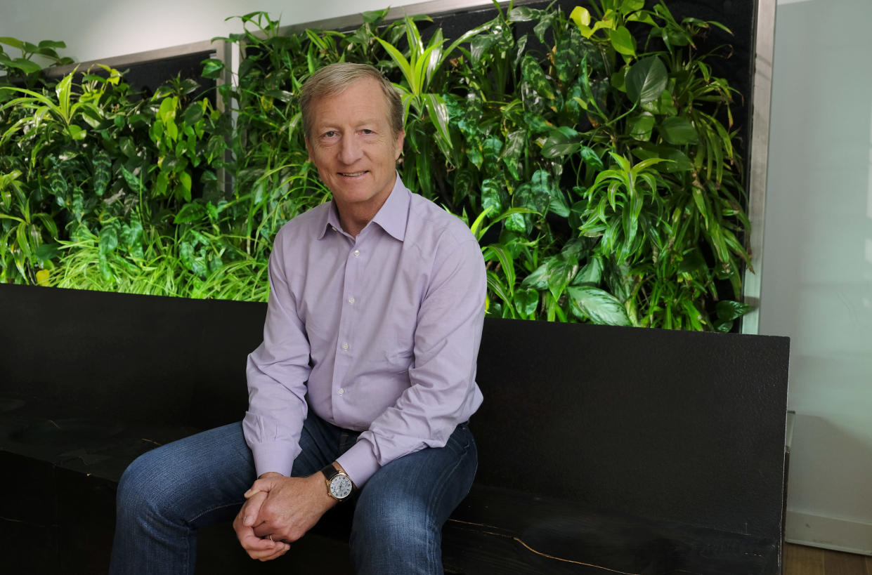 Environmental activist and billionaire Tom Steyer at his offices in San Francisco in June (Photo: Eric Risberg/AP)