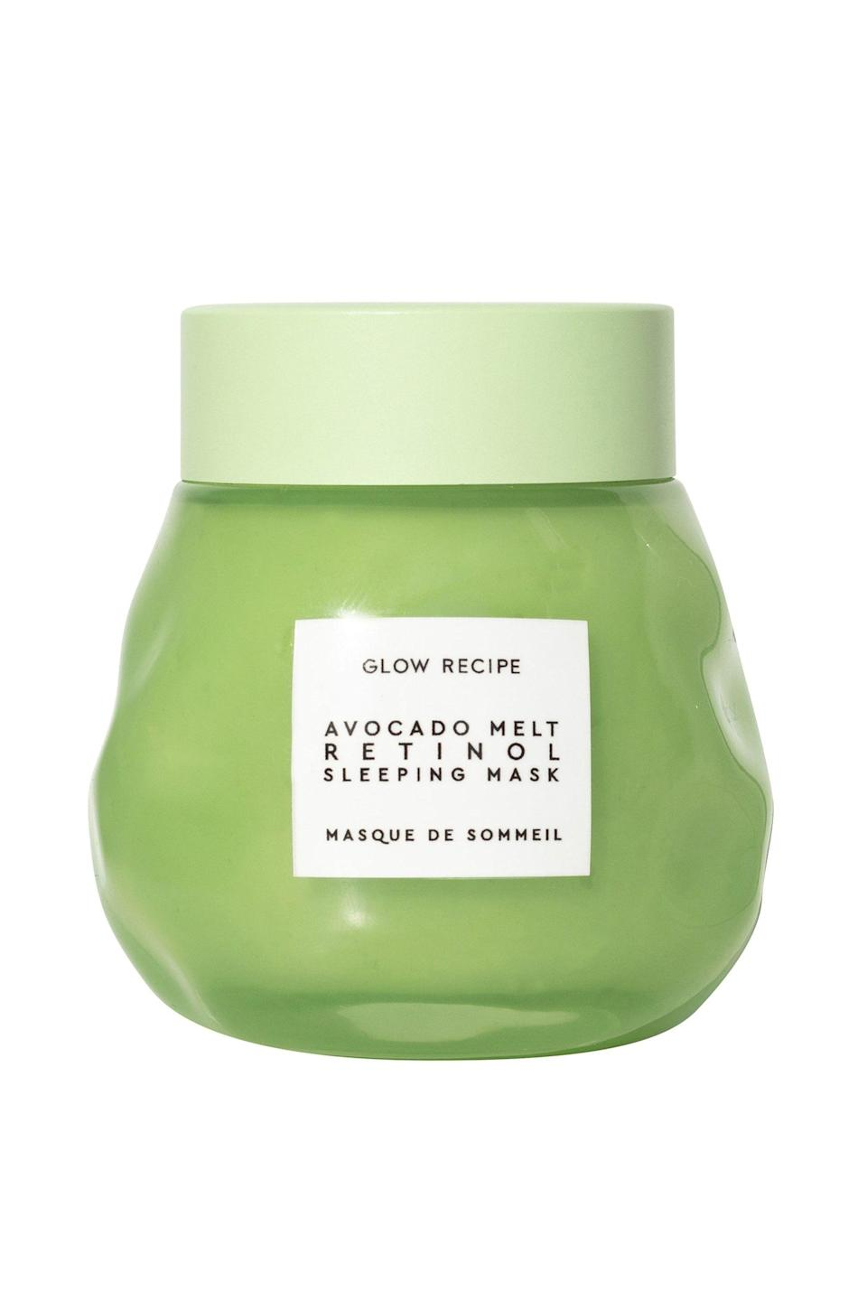 """<p><strong>Glow Recipe</strong></p><p>sephora.com</p><p><strong>$49.00</strong></p><p><a href=""""https://go.redirectingat.com?id=74968X1596630&url=https%3A%2F%2Fwww.sephora.com%2Fproduct%2Favocado-melt-retinol-sleeping-mask-P449160&sref=https%3A%2F%2Fwww.marieclaire.com%2Fbeauty%2Fg33597196%2Fbest-retinol-creams%2F"""" rel=""""nofollow noopener"""" target=""""_blank"""" data-ylk=""""slk:Shop Now"""" class=""""link rapid-noclick-resp"""">Shop Now</a></p><p>This creamy formula is meant to be the scrumptious last step in your night routine. Nutrient dense-avocado nourishes the skin while polyhydroxy acids gentle exfoliate for minimized pores and a smoother visage by morning. </p>"""