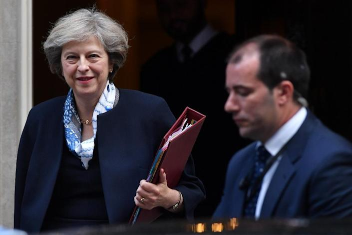 Prime Minister Theresa May faces a legal challenge to her right to start negotiations for Britain to leave the European Union (AFP Photo/Ben Stansall)