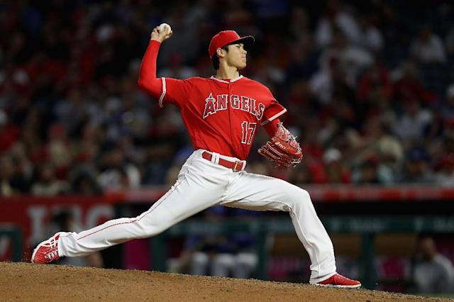 Los Angeles Angels' Shohei Ohtani, pictured June 2018, will not undergo Tommy John surgery on his damaged elbow, the team's general manager announced (AFP Photo/Sean M. Haffey)