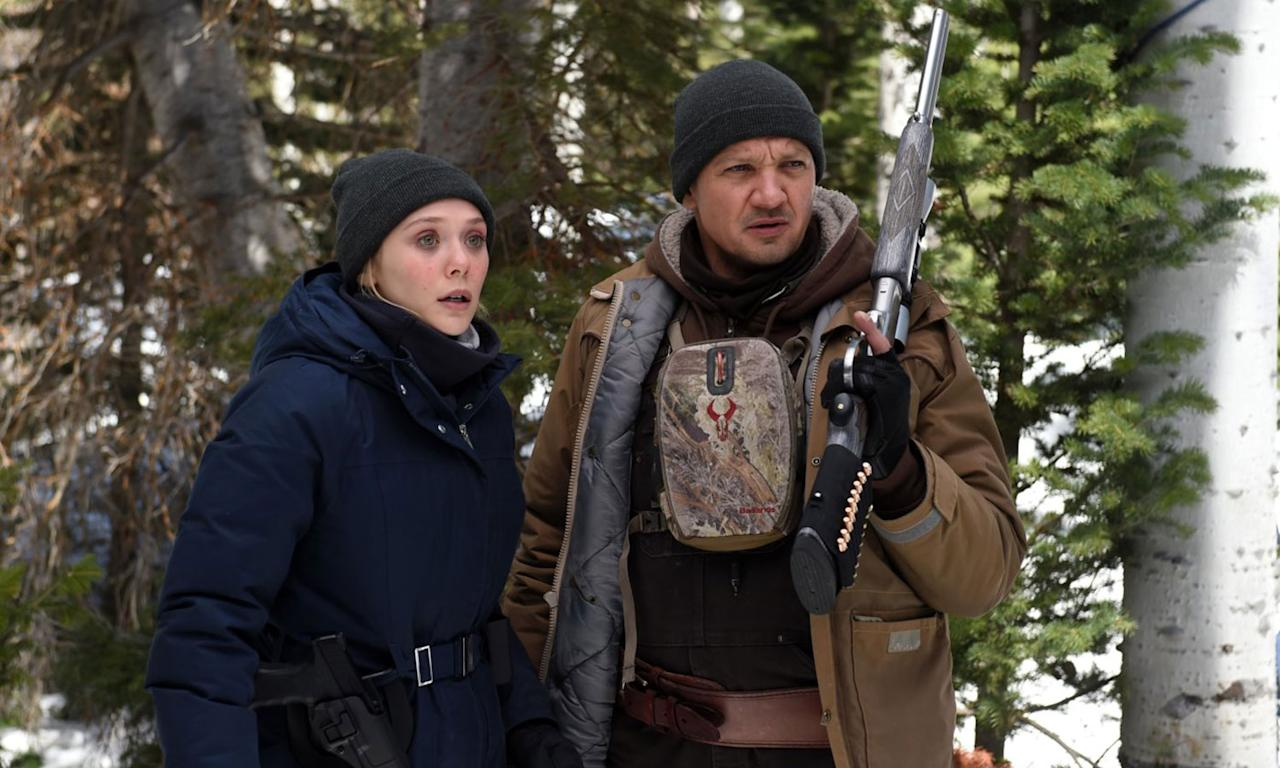 <p>'Avengers' teammates Jeremy Renner and Elizabeth Olsen join forces as a local tracker and an out-of-town FBI agent to hunt down the killer of a young Native American teenager on an Indian Reservation in snow-covered Wyoming. Written and directed by Taylor Sheridan, the writer of 'Sicario' and 'Hell or High Water', this neo-western comes with strong pedigree and glowing festival reviews. </p>