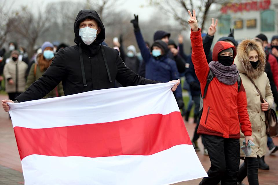 Protesters in Minsk  (AFP via Getty Images)