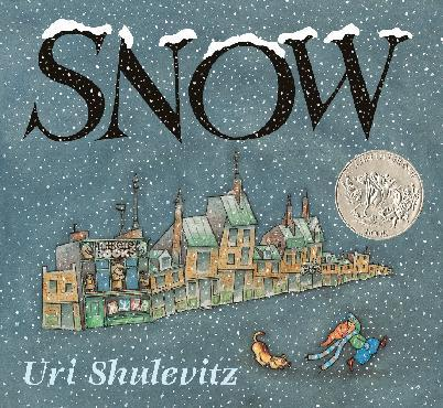 "This book cover image released by Farrar, Straus and Giroux shows ""Snow,"" by Uri Shulevitz. (AP Photo/Farrar, Straus and Giroux)"