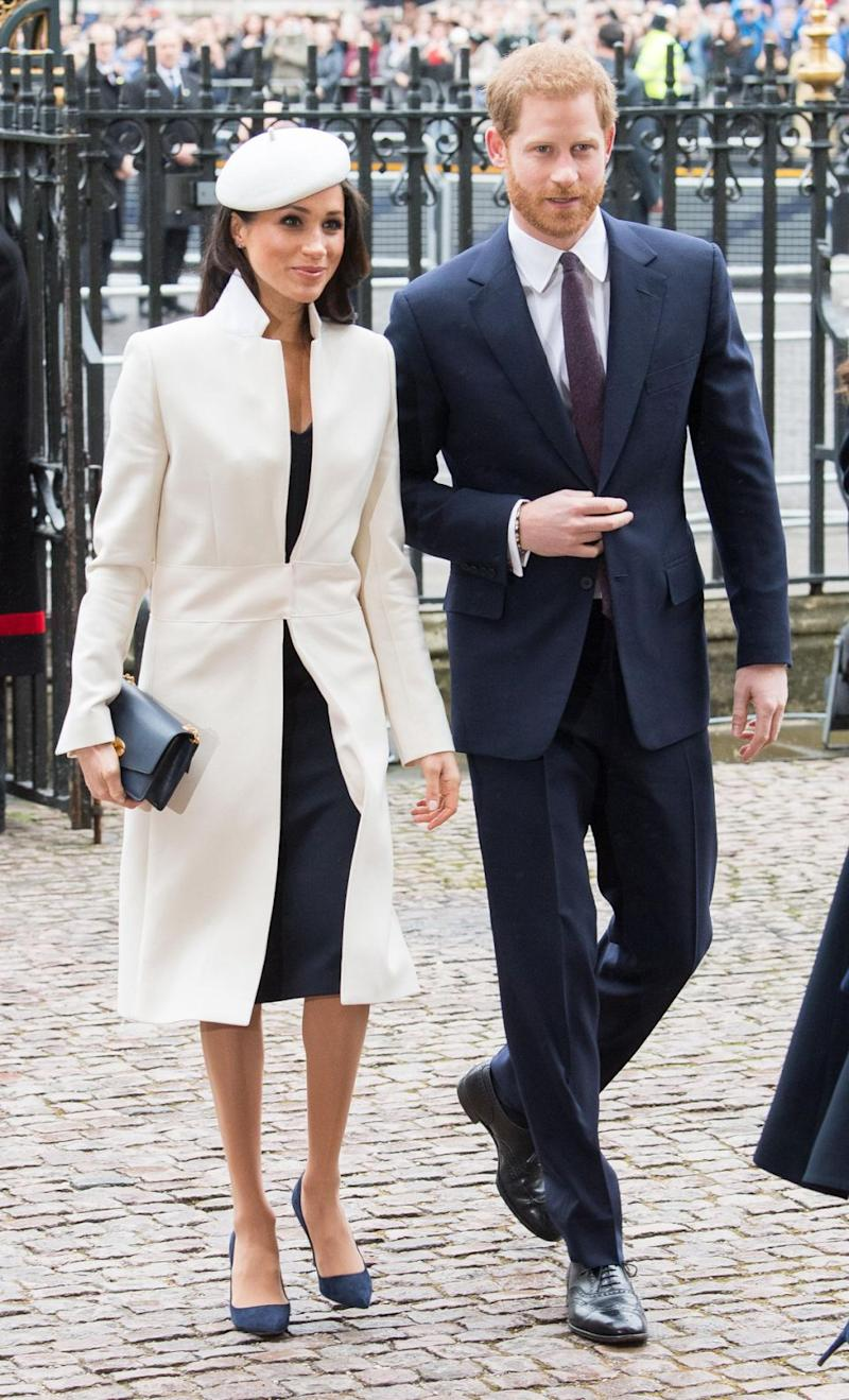 The royal couple were attending a Commonwealth Day service at Westminster Abbey. Photo: Getty Images