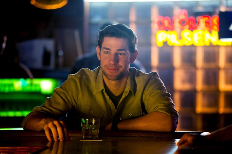 "In this undated publicity film image John Krasinski stars as Dustin Noble in Gus Van Sant's contemporary drama, ""Promised Land,"" a Focus Features release. (AP Photo/Focus Features, Scott Green)"