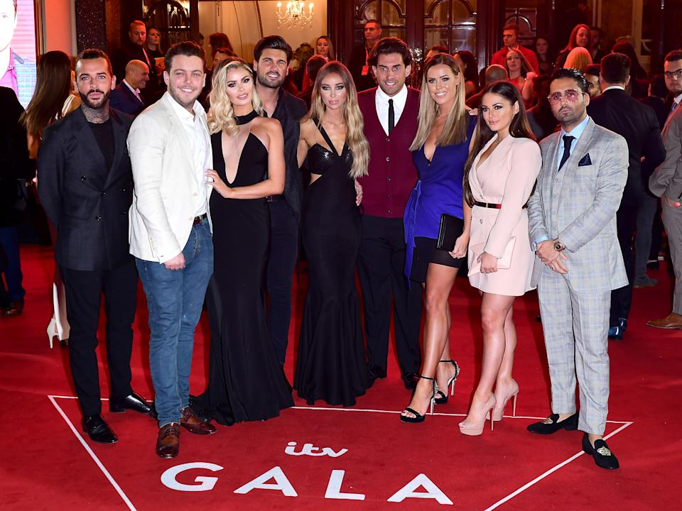 The cast of The Only Way Is Essex attending the ITV Gala held at the London Palladium. Picture date: Thursday November 9, 2017. See PA story SHOWBIZ ITV. Photo credit should read: Ian West/PA Wire.