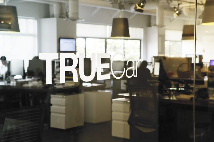 The entrance to TrueCar's offices in Santa Monica, California.