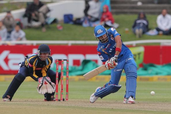 CAPE TOWN, SOUTH AFRCA - OCTOBER 18:  Rohit Sharma of the Mumbai Indians during the Karbonn Smart CLT20 match between Mumbai Indians (IPL) and Yorkshire (England) at Sahara Park Newlands on October 18, 2012 in Cape Town, South Africa. (Photo by Carl Fourie / Gallo Images /Getty Images)