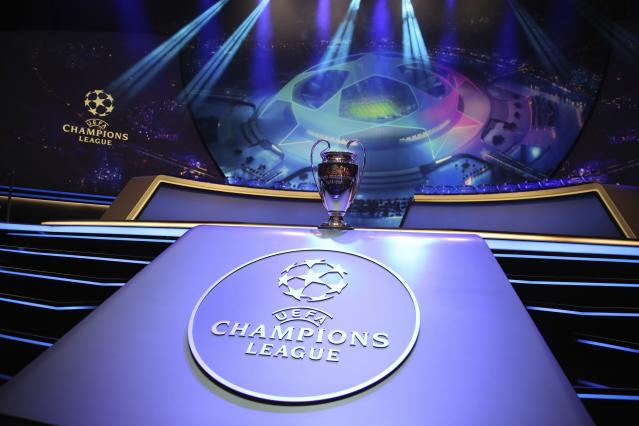 The 2019-20 Champions League group stage draw is underway in Monaco. (AP)