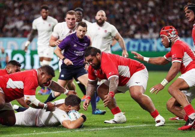 Ben Youngs came agonisingly short of a World Cup try on Sunda