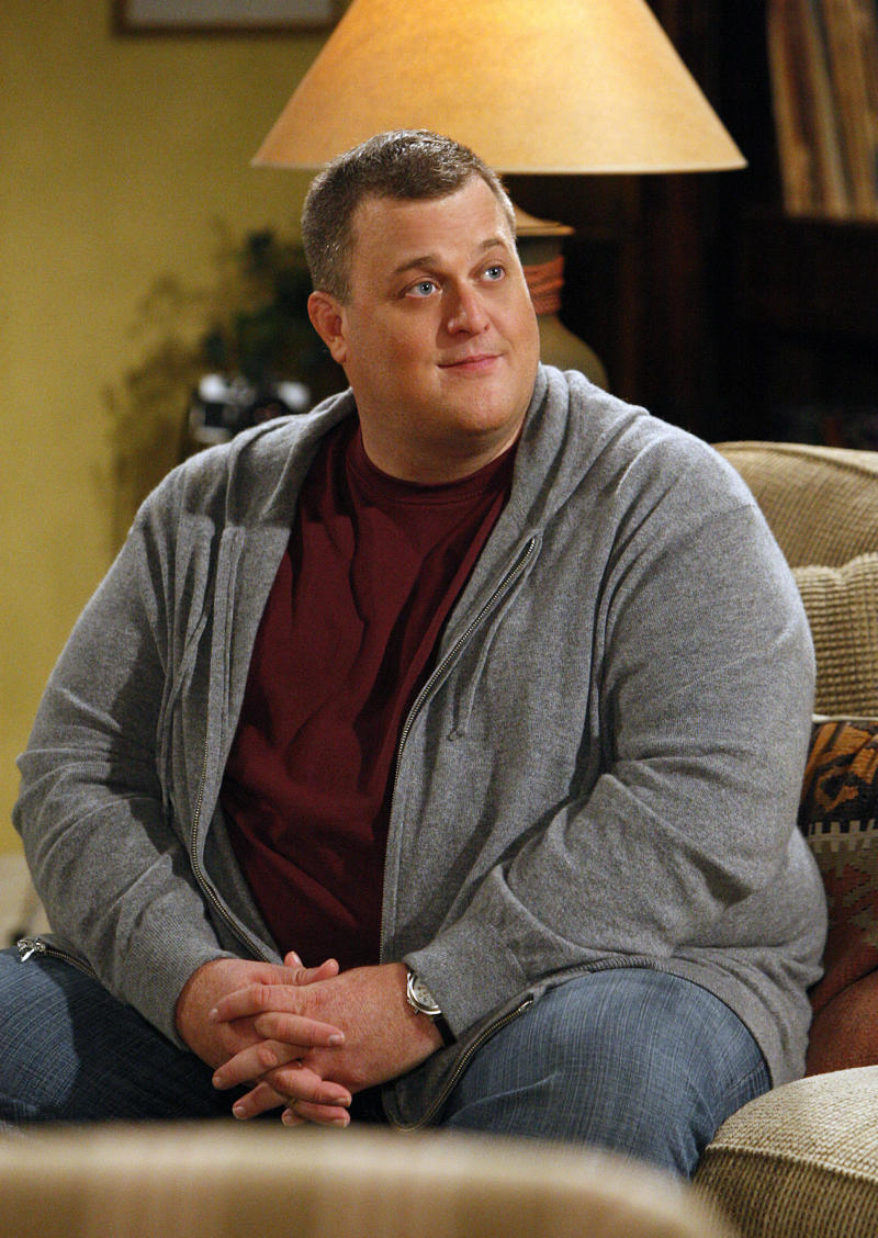 """In this undated publicity image released by CBS, Billy Gardell portrays Mike Biggs in a scene from the CBS comedy """"Mike & Molly."""" Gardell plans a working summer, regardless of whether his sitcom """"Mike & Molly"""" returns for a second year. Gardell says he has a """"good feeling"""" CBS will renew the show. He starts a national standup tour in June. The """"Halftime"""" tour is in support of his DVD of the same name.(AP Photo/CBS, Sonja Flemming)"""