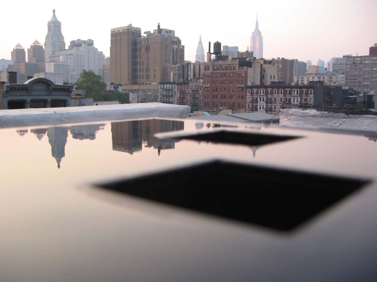 Mr. Arad built a Plexiglas model and photographed it on the rooftop of his building in the East Village against the Manhattan skyline.  Handel Architects LLP