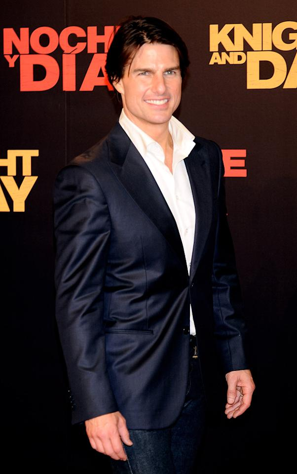 "<a href=""http://movies.yahoo.com/movie/contributor/1800015725"">Tom Cruise</a> at the Spanish premiere of <a href=""http://movies.yahoo.com/movie/1810115368/info"">Knight and Day</a> - 06/16/2010"